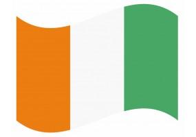 sticker drapeau Flottant Cote D'Ivoire