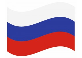 sticker drapeau Flottant Russie