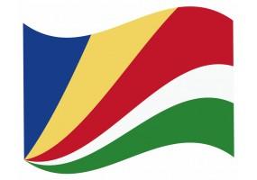 sticker drapeau Flottant Seychelles
