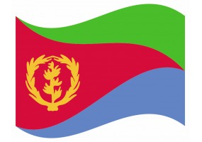 sticker drapeau Flottant Erythrée