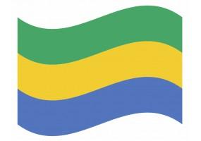 sticker drapeau Flottant Gabon