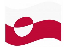 sticker drapeau Flottant Groenland