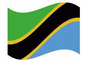 sticker drapeau Flottant Tanzanie