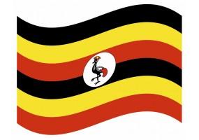 sticker drapeau Flottant Ouganda
