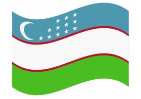 sticker drapeau Flottant Ouzbekistan