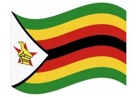 sticker drapeau Flottant Zimbabwe