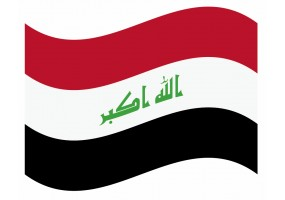 sticker drapeau Flottant Iraq