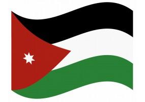 sticker drapeau Flottant Jordanie