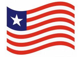 sticker drapeau Flottant Liberia