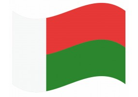 sticker drapeau Flottant Madagascar