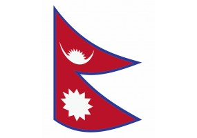 sticker drapeau Flottant Nepal