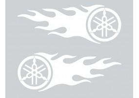 Sticker Yamaha flamme