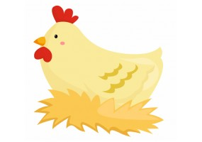Sticker Poule