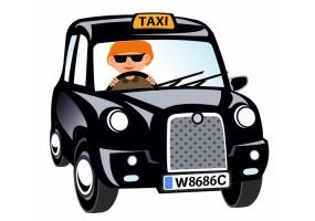Sticker London taxi