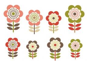 Sticker fille Fleurs