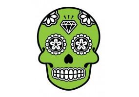 Sticker tete de mort diamant