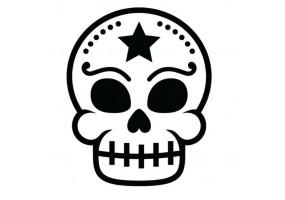 Sticker tete de mort etoile