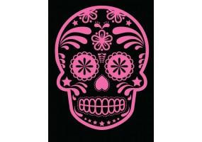 Sticker tete de mort fushia