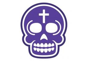 Sticker tete de mort violet