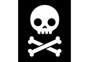 Sticker tete de mort pirate