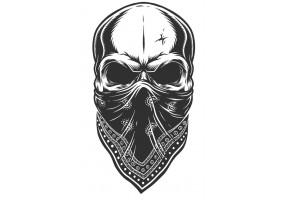 Sticker tete de mort foulard