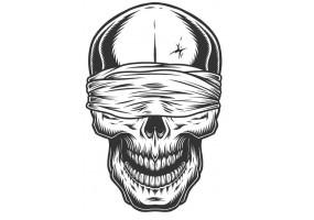 Sticker tete de mort bandeau
