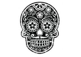 Sticker tete de mort motif