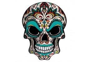 Sticker tete de mort colore