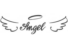 Sticker ange aile noir