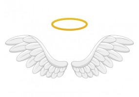 Sticker ange aile aureole
