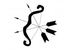 Sticker ange arc