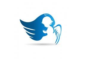Sticker ange bleu