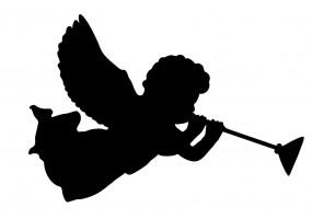 Sticker ange musique