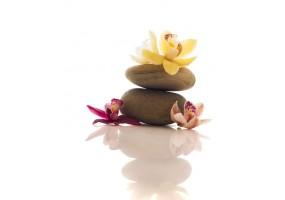 Sticker zen galet fleur