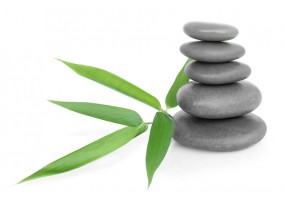 Sticker zen galet feuille