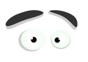 Sticker yeux gros sourcils