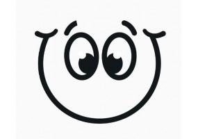 Sticker yeux noir