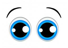 Sticker yeux bleu