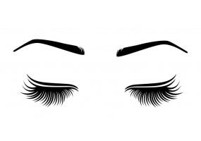 Sticker yeux cils