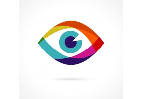 Sticker yeux colore