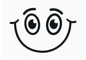 Sticker yeux joyeux