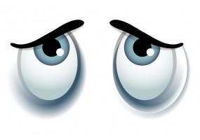 Sticker yeux gris
