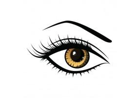 Sticker yeux marron
