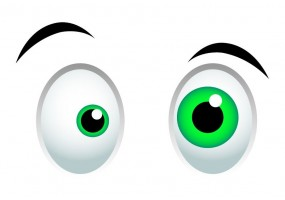 Sticker yeux petit et gros