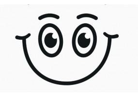 Sticker yeux sourire