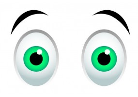Sticker yeux vert