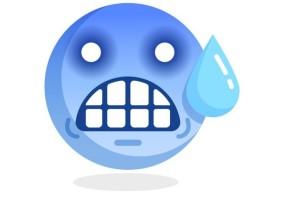 Sticker emoji bleu