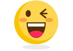 Sticker emoji clin d'oeil