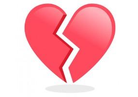 Sticker emoji coeur brise
