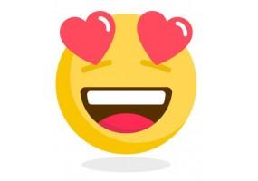 Sticker emoji coeur dans les yeux